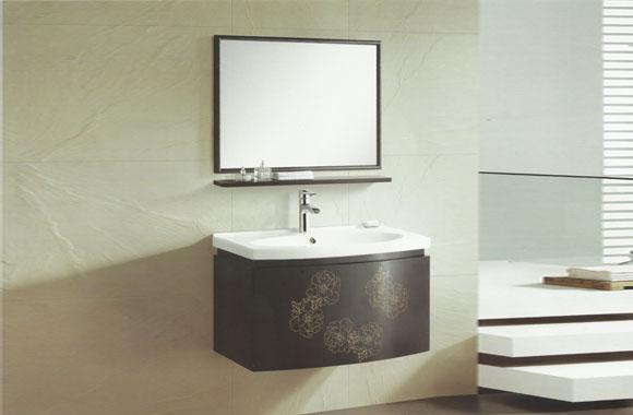 实木橡木浴室柜组合挂墙式吊柜镜柜810mm VS-0848