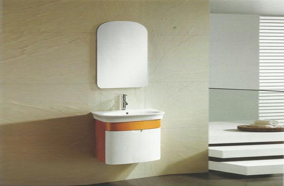 高档实木浴室柜 挂墙式浴室柜组合套装 橡木面盆柜810mm VS-0836