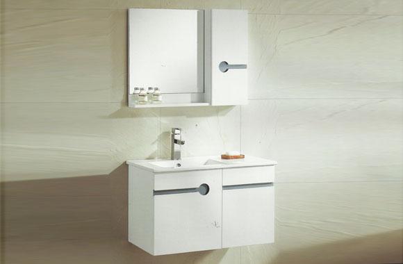 简约卫浴柜小户型实木浴室柜组合挂墙式橡木洗脸盆柜组合810mm VS-0827