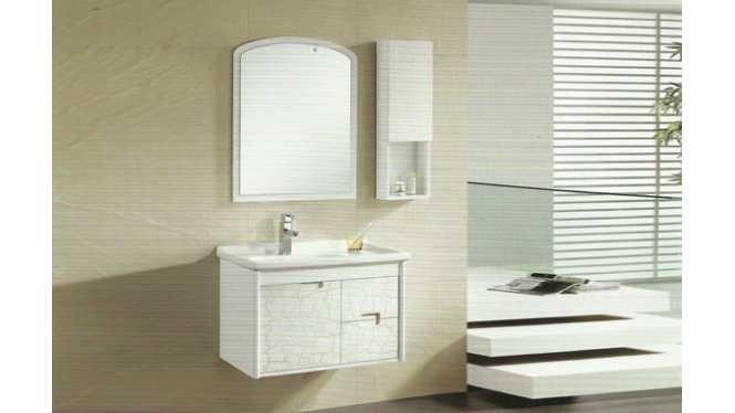实木浴室柜橱柜 镜柜卫生间 台盆柜整体 挂墙式洗脸盆柜组合810mm VS-0820
