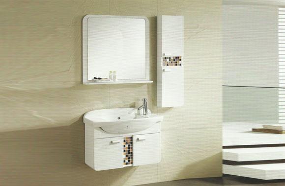 实木浴室柜挂墙式吊柜台上盆洗手盆柜一体组合柜810mm VS-0816