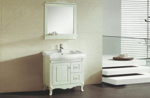 浴室柜组合橡木柜卫浴柜台盆洗脸盆梳洗柜实木浴室柜落地 820mm VS-0808