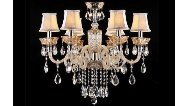 现代欧式水晶吊灯简约欧式吊灯客厅酒店水晶蜡烛灯饰DS10