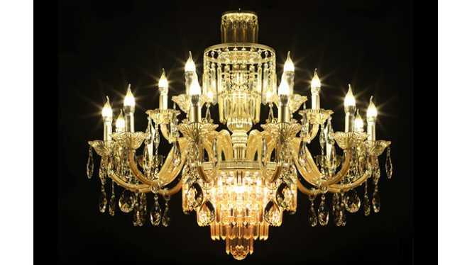 现代欧式水晶灯简约水晶吊灯客厅酒店灯具灯饰DS08