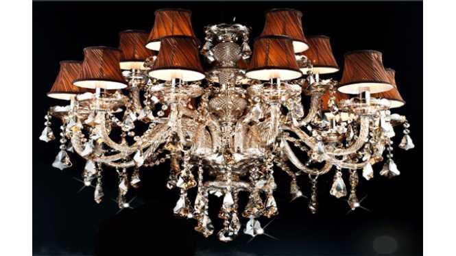 烟灰色欧式现代水晶吊灯酒店客厅水晶蜡烛灯水晶灯饰DS31,凯斯嘉,建材,灯饰照明,吊灯