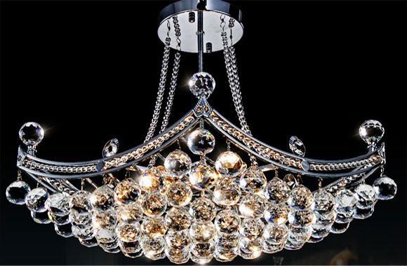现代简约水晶灯餐吊灯水晶吸顶灯水晶吊灯具饰DS880