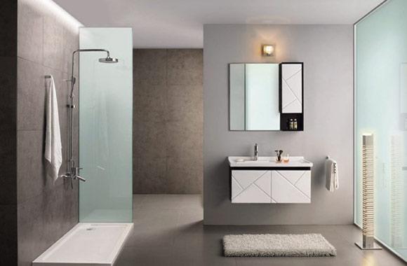 浴室柜橡木卫生间洗脸盆柜组合 洗手台实木吊柜 900mm KD-BC005W