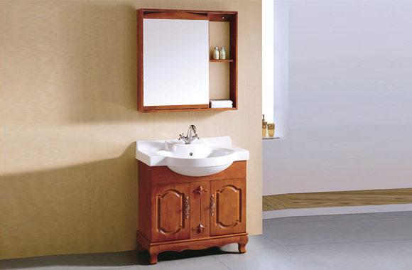 洗手洗脸盆柜组合 实木落地仿古卫浴柜 欧式浴室柜 800mm KD-BC022W