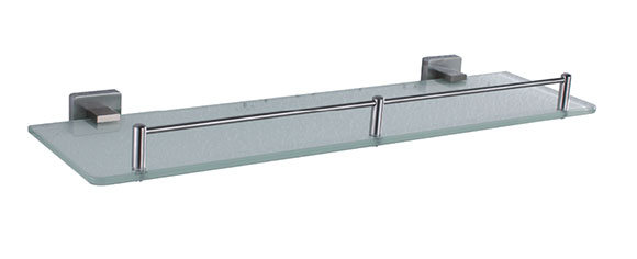 全铜单层磨砂玻璃 置物架玻璃置物台化妆台玻璃平台 GH-21005