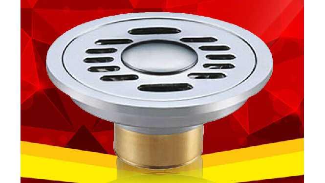 全铜防臭地漏 圆形10厘米洗衣机双用卫生间地漏 防虫 防老鼠 T8078G
