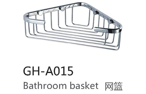 三角篮网篮 浴室置物架 卫生间置物架 全铜三角蓝壁挂 GH-A015