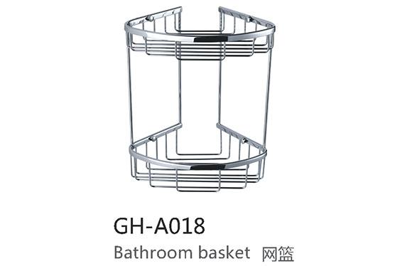 卫浴挂件 三角二层网篮浴室置物架 墙角架 GH-A018