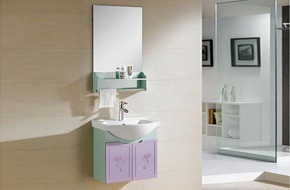 PVC浴室柜组合 洗手盆洗脸盆吊柜 卫生间小洗漱台 550mm 8190