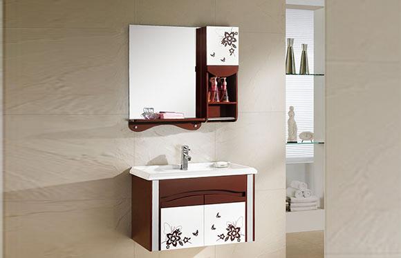 PVC浴室柜组合 洗手盆洗脸盆吊柜 卫生间小洗漱台 800mm 8181