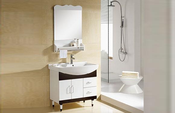 PVC浴室柜组合 洗手盆洗脸盆吊柜 卫生间小洗漱台 820mm 8034