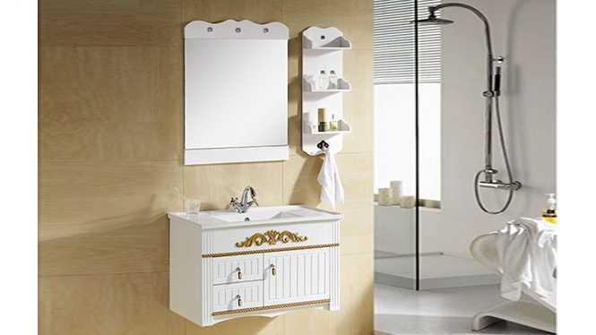 PVC浴室柜组合 洗手盆洗脸盆吊柜 卫生间小洗漱台 810mm 8033