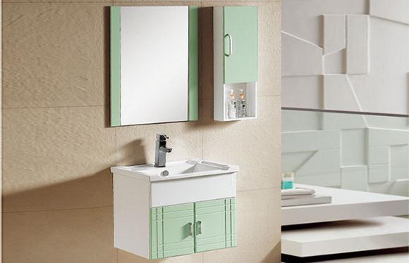 PVC浴室柜组合 洗手盆洗脸盆吊柜 卫生间小洗漱台 600mm 8025