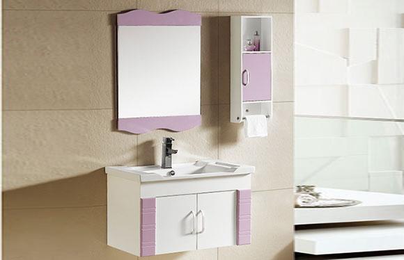 PVC浴室柜组合 洗手盆洗脸盆吊柜 卫生间小洗漱台 820mm 8023