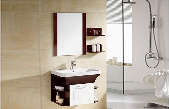 PVC浴室柜组合 洗手盆洗脸盆吊柜 卫生间小洗漱台 700mm 8016