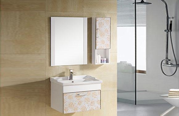 PVC浴室柜组合 洗手盆洗脸盆吊柜 卫生间小洗漱台 610mm 8013