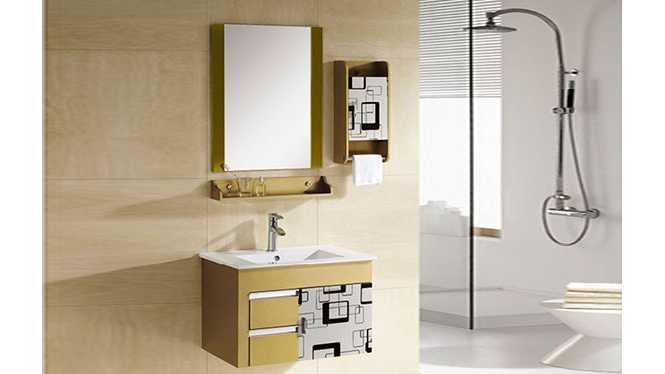 PVC浴室柜组合 洗手盆洗脸盆吊柜 卫生间小洗漱台 720mm 8008
