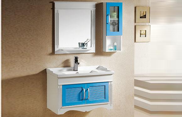 PVC浴室柜组合 洗手盆洗脸盆吊柜 卫生间小洗漱台 820mm 8007