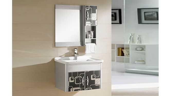 浴室柜组合 PVC卫浴柜 洗手洗脸盆柜730mm  8198