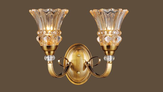客厅吊灯 灯饰批发 精美美式led 高档玻璃 个性创意客厅 MDS8602-2W
