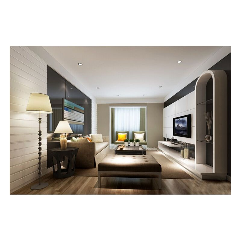 现代风格时尚舒适家居装修一居室效果图