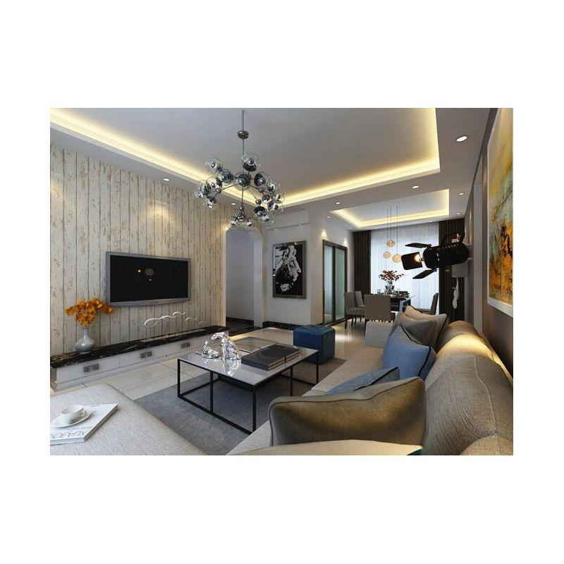 现代风格120平三居室装修效果图