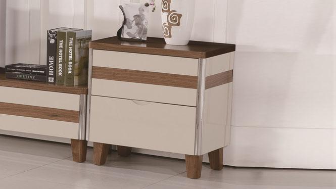 床头柜 实木家具新品特价 橡木简约收纳柜二斗柜储物柜1424#