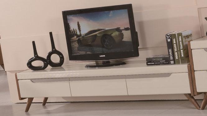 实木电视柜简约卧室矮柜地柜储物柜 电视机柜1427#