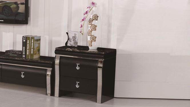 二斗柜储物柜简约卧室实木床头柜床头橱家具1428#