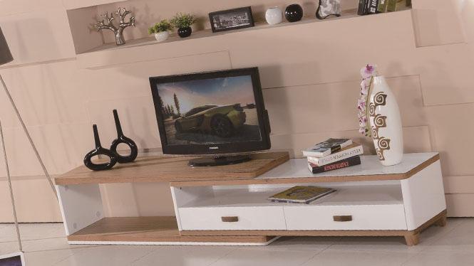 可伸缩电视柜组合简约现代影视柜卧室电视机柜落地柜小户型客厅柜1429#