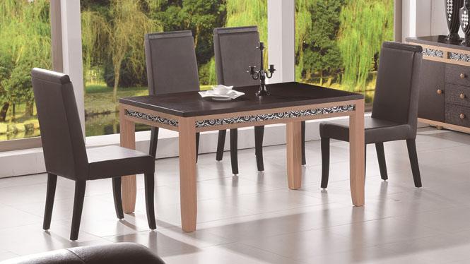 餐桌椅组合现代简约 实木颗粒餐台饭桌长方形餐桌1430#