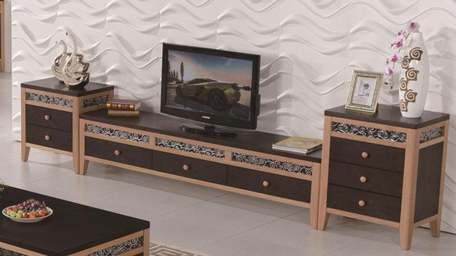 实木电视柜橡木视听柜客厅柜 简约现代地柜客厅矮柜电视墙柜1430#