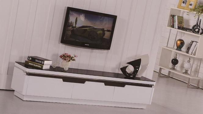 橡木电视柜 实木地柜 简约现代矮柜 卧室储物柜子1420