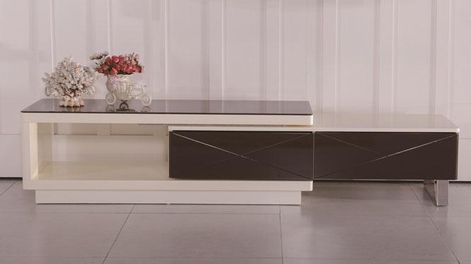 现代简约实木电视柜组合宜家实木客厅伸缩茶几组合地柜1307