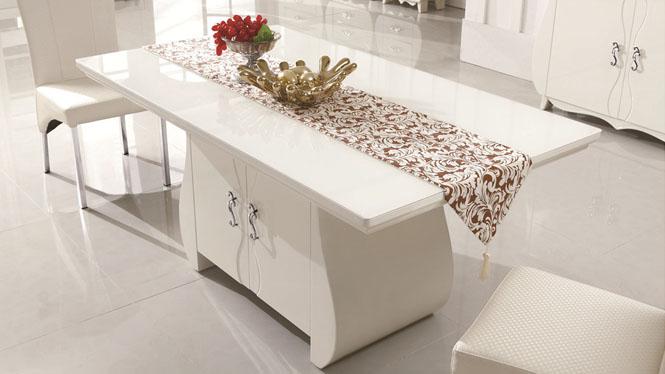 实木餐桌 餐桌椅长方形餐台 简约咖啡厅桌椅子组合1301