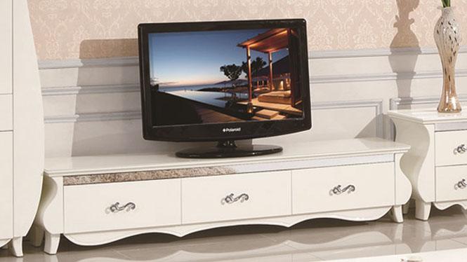 实木电视柜简约欧式橡木电视柜茶几组合小户型客厅家具1301