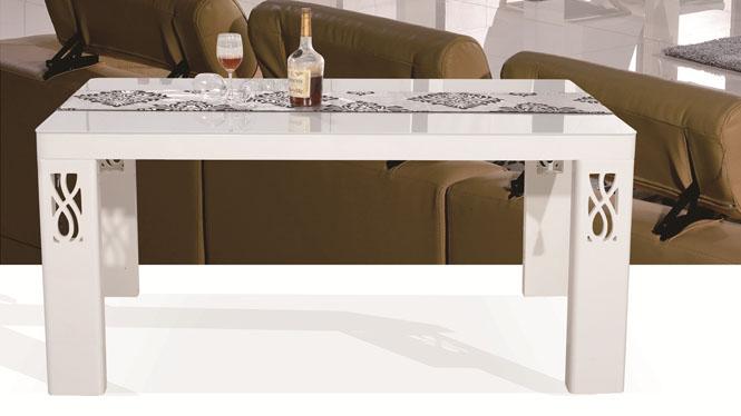 餐桌椅组合钢化玻璃餐桌简约现代桌方形实木餐台1302