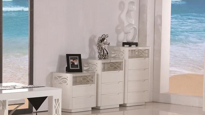 实木储物柜斗橱收纳柜储藏柜现代整装二三四斗柜1302