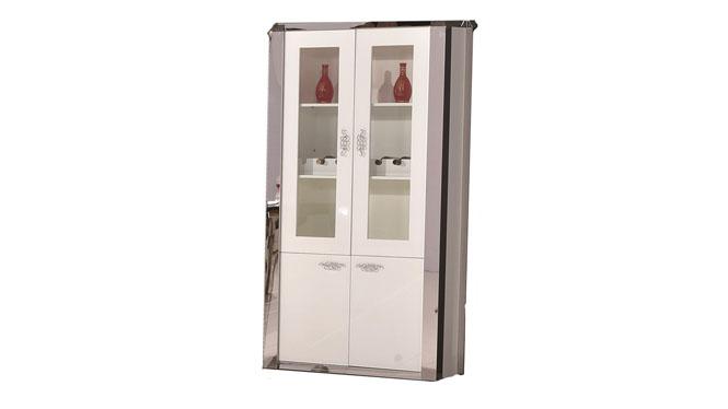 现代简约不锈钢客厅餐厅小户型奢华时尚餐酒柜1304