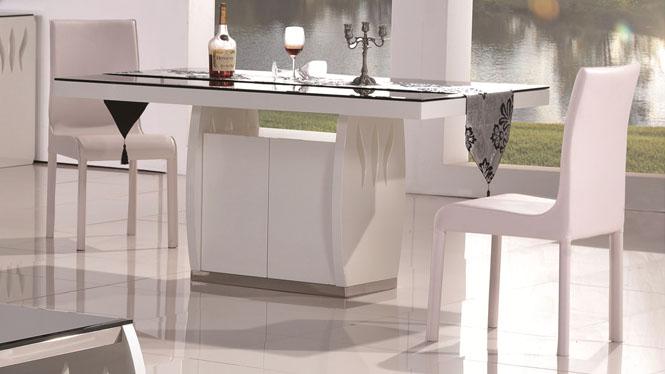 简约现代餐桌椅组合长方形现代实木餐桌台组合1305