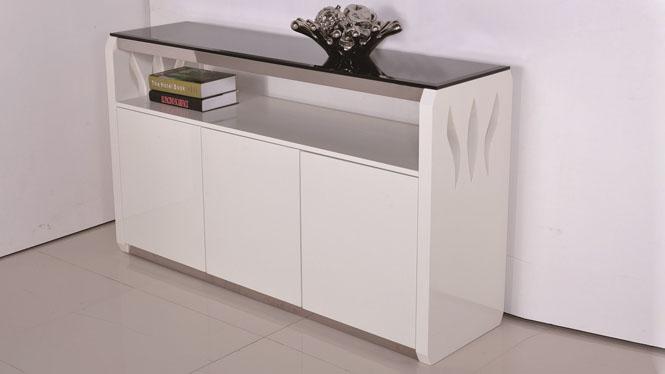 现代简约餐边柜碗柜酒柜 实木茶水柜橱柜储物柜边柜1305