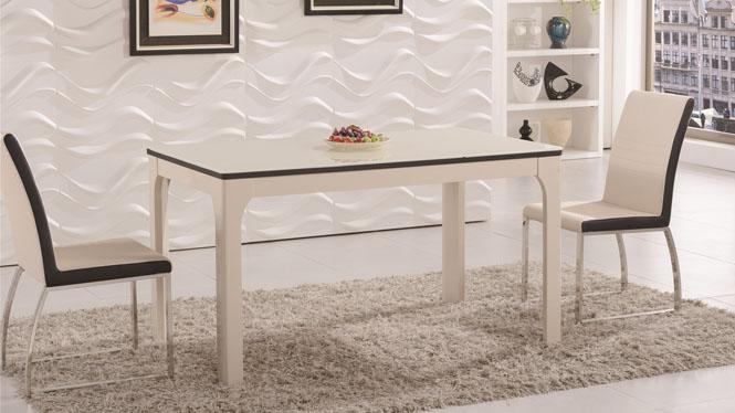 现代简约实木餐台饭桌 大小户型餐桌椅长方形餐桌1309