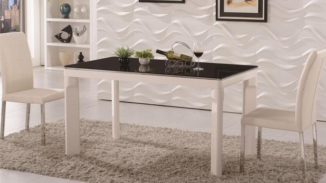 实木西餐桌椅组合 小户型餐台 长方形酒店饭店餐馆食堂桌子1311
