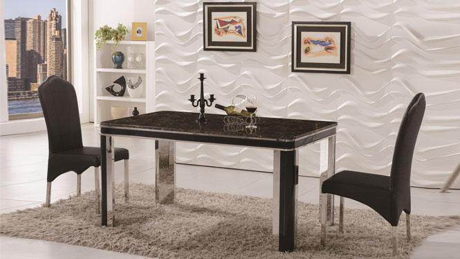 实木餐桌椅组合简约现代餐厅家具橡木餐台饭桌1312