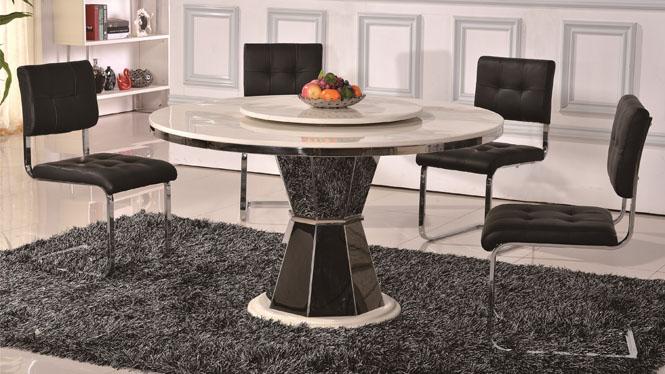 餐桌椅组合大理石餐桌椅组合现代简约饭桌餐台T11