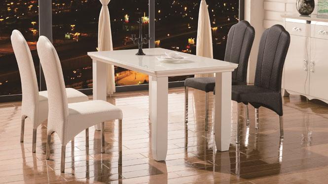 餐桌简约时尚现代高档长方形饭桌 实木餐台1301B
